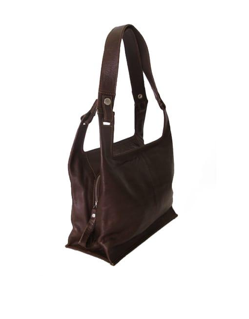 Lumi Laukku M : Eco supermarket bag medium brown lumi accessories