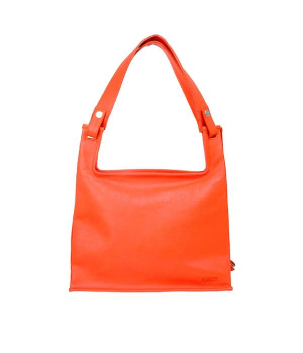 LUMI Classic Supermarket Bag Medium, in coral.