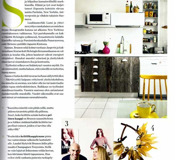 Sanna Kantola featured in Gloria Koti 4/2013