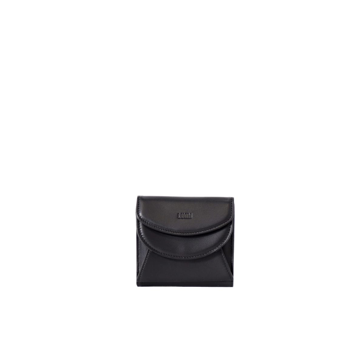 990a33223c LUMI Viivi Trifold Wallet in classic black. This little trifold wallet  safe-keeps your