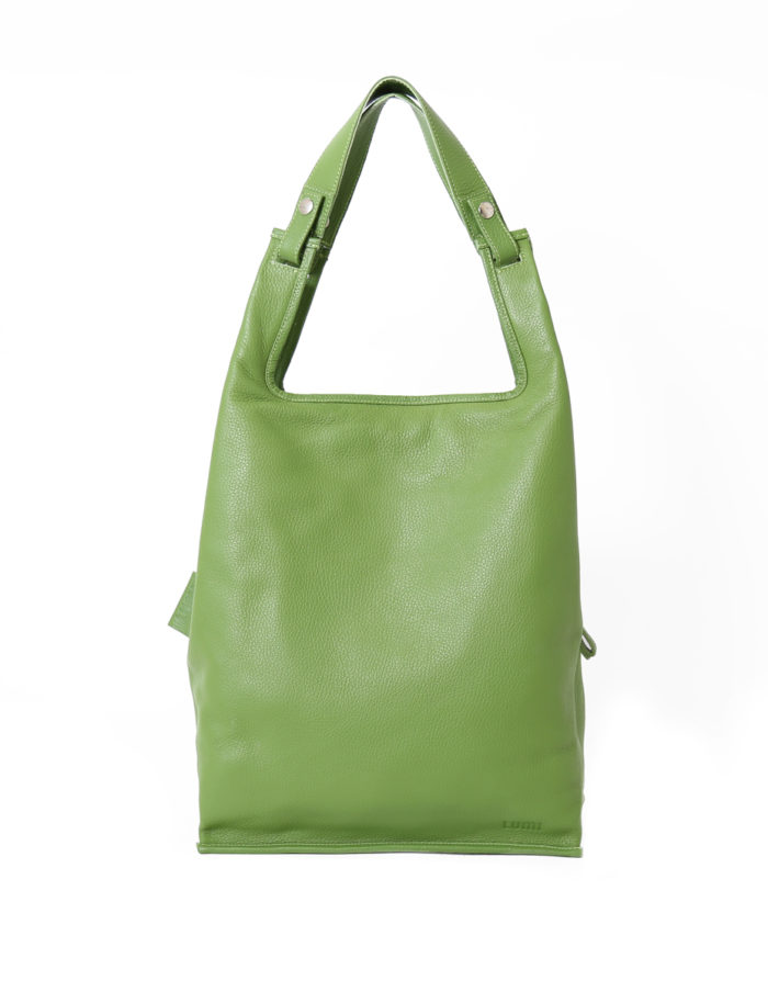 Supermarket Bag Large in bright moss green