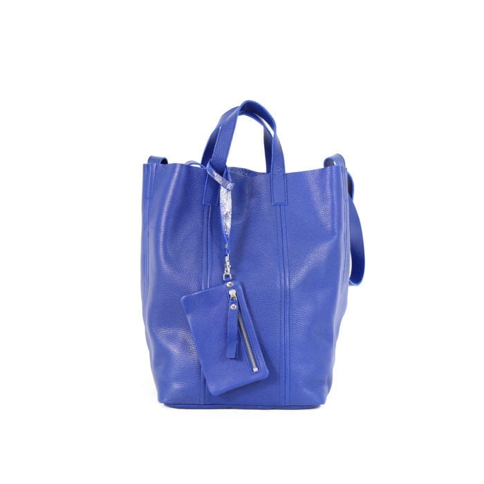 Linda Large Tote Floater Blue Silver