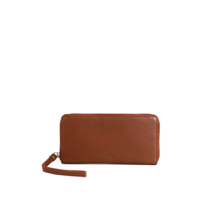 Ziparound Wallet Large Eco Cognac