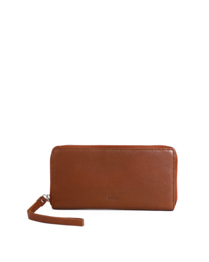 Ziparound Wallet Large Eco Cognac
