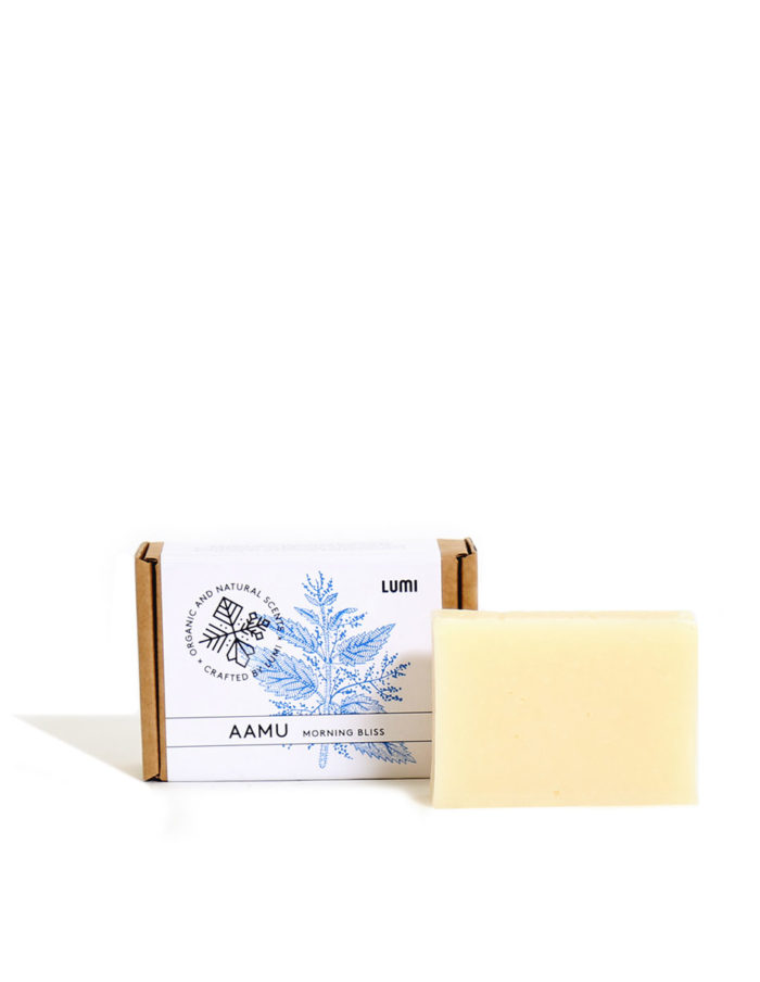 "LUMI Aamu ""Morning Bliss"" soap in a botanical scent, reminding you of refreshing Spring lakes."
