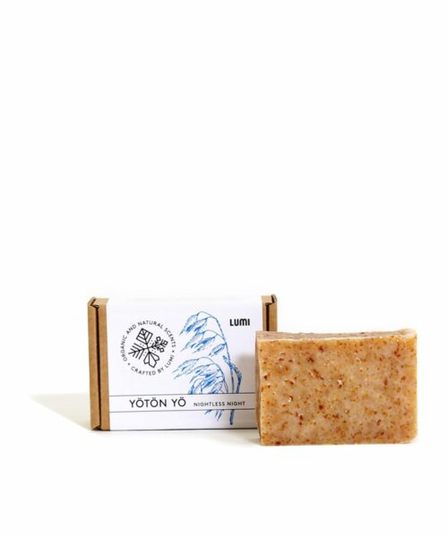 """LUMI Yötön Yö """"Nightless Night"""" soap in a botanical scent, reminding you of the Midsummer sun that never sets."""