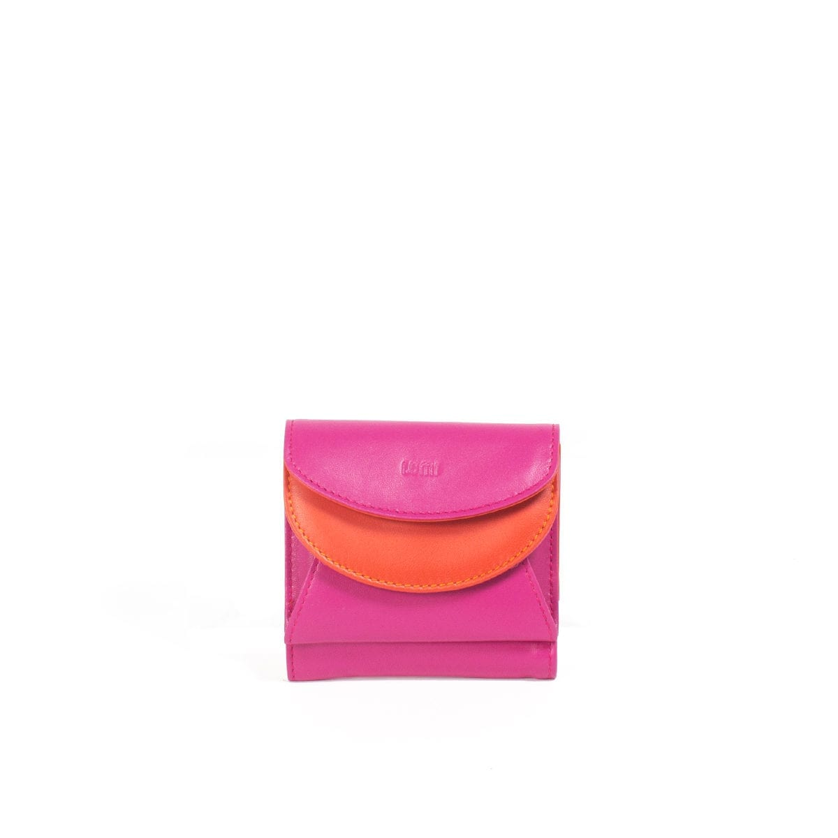 LUMI Viivi Trifold Wallet, in pink/coral.