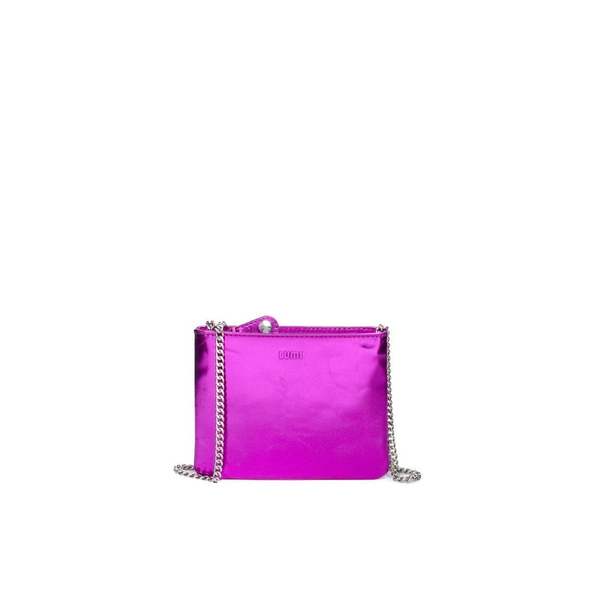 9a66159109 Laura Envelope Clutch Metallic Red-Violet