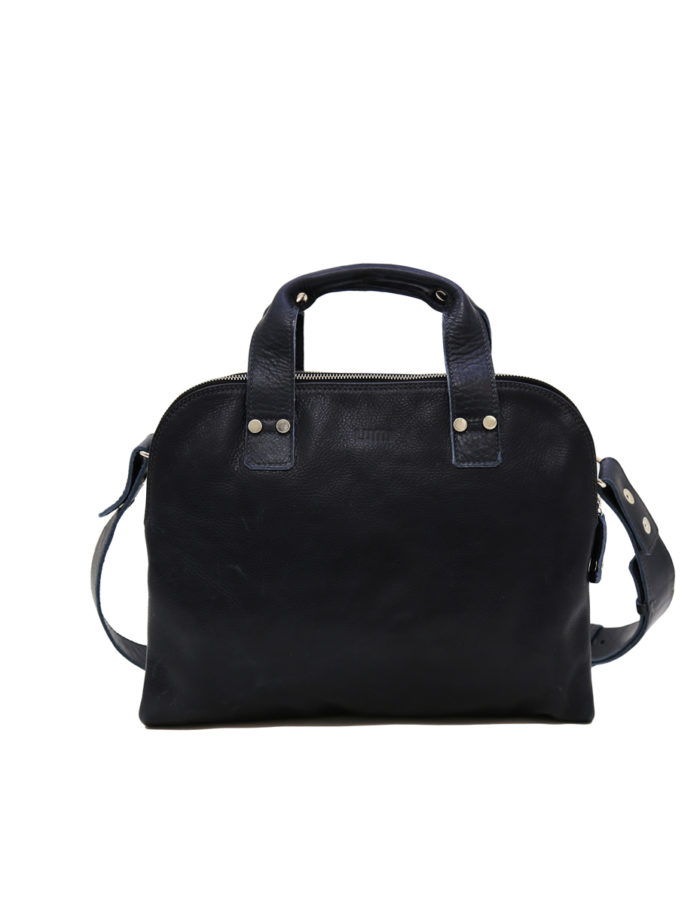 LUMI Johan Small Business Bag, in navy.