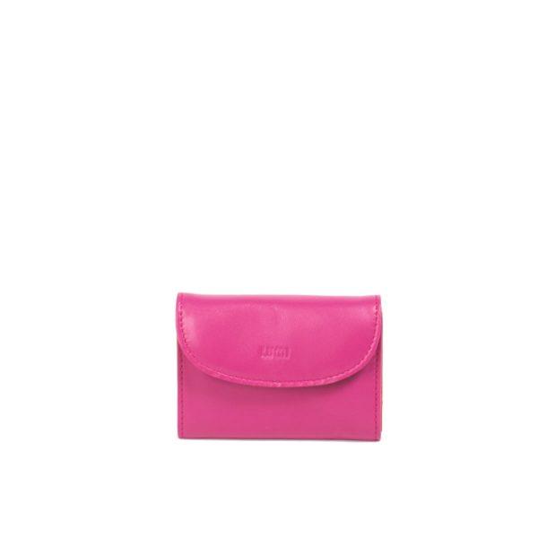 LUMI Åsa Card Wallet, in pink/coral.