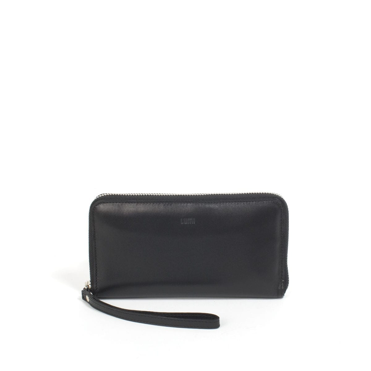 LUMI Orvokki Large Wallet, in black.