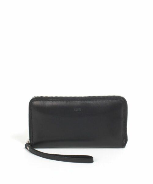 LUMI Orvokki Large Wallet, in black.