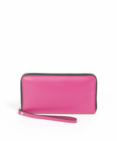 LUMI Orvokki Large Wallet, in pink/coral.