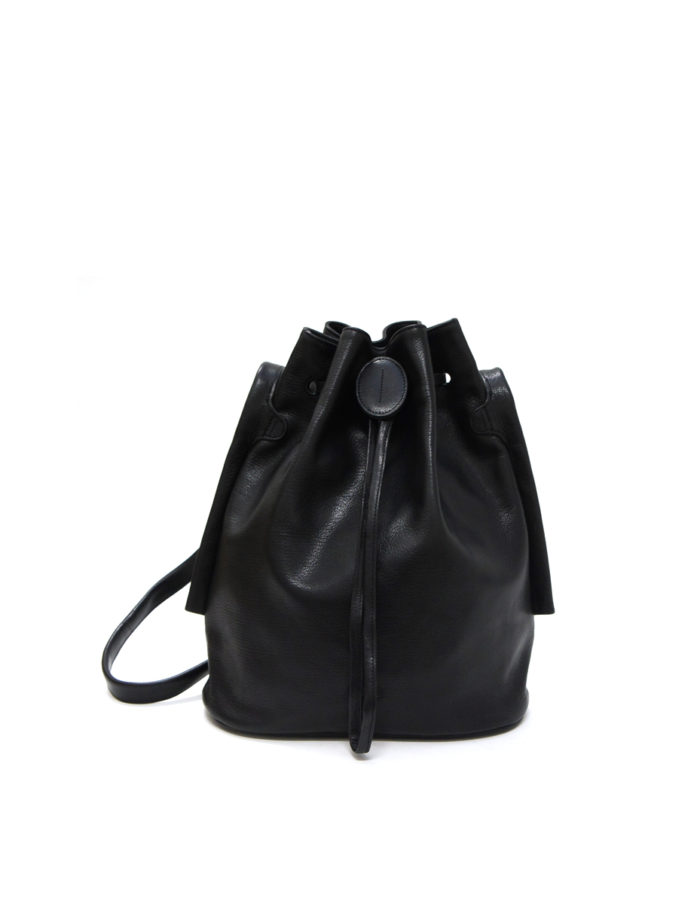Lumi Verna Large Bucket Bag Black