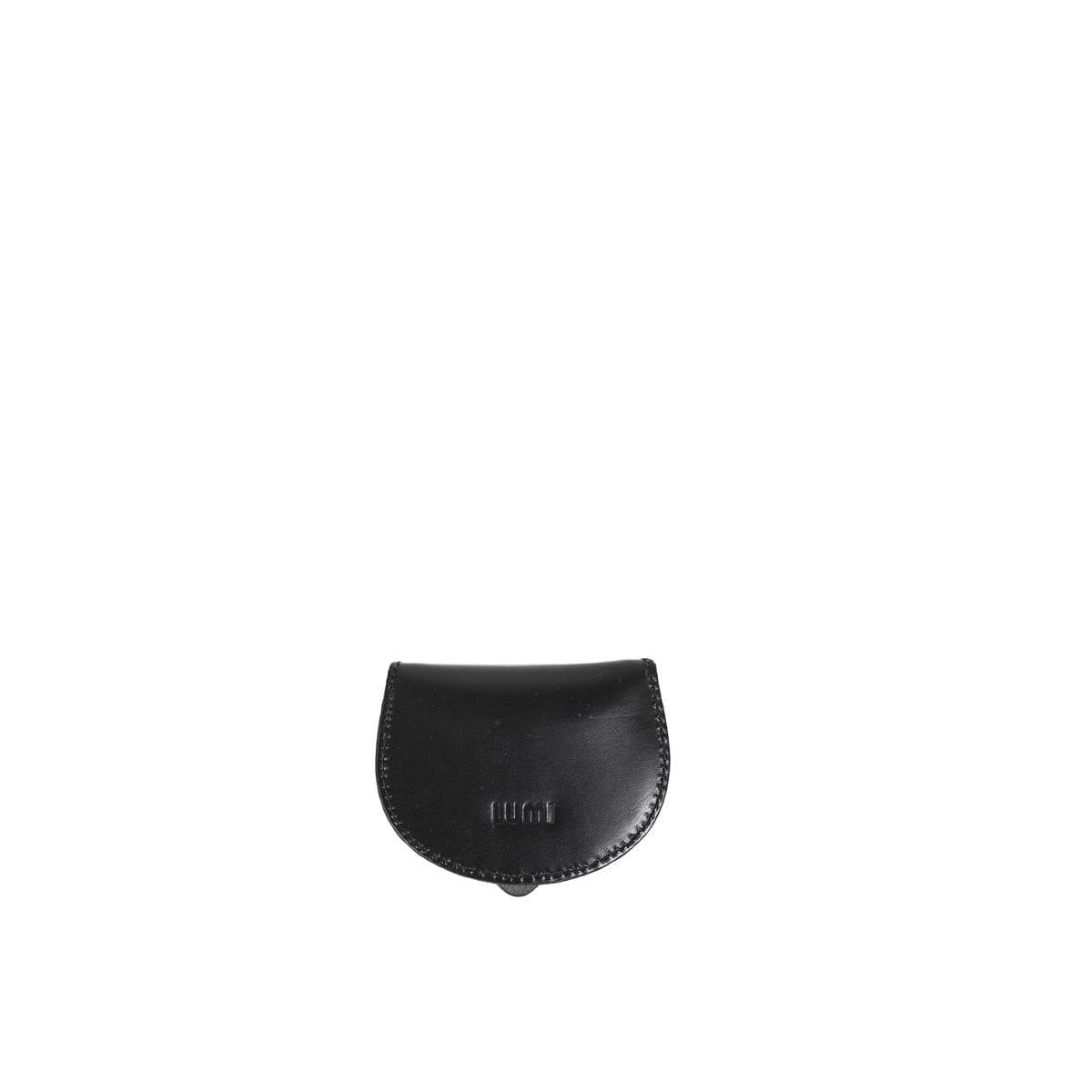 LUMI Big Coin Pouch, in black, is created using natural vegetable tanned cow leather.
