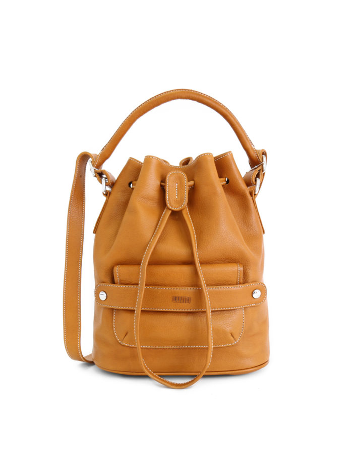 Katariina Large Bucket Bag Cognac