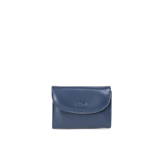 LUMI Åsa Card Wallet, in navy/taupe.