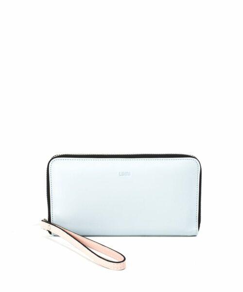 LUMI Orvokki Large Wallet, in Baby Blue / Baby Pink.