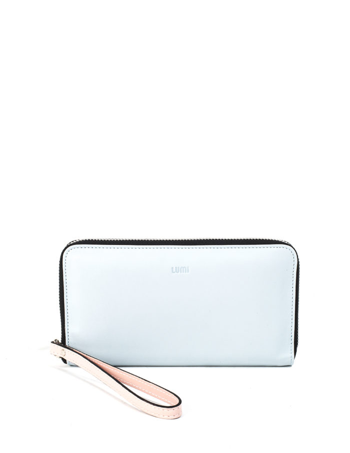 LUMI Orvokki Large Wallet, in Baby Blue / Baby Pink.