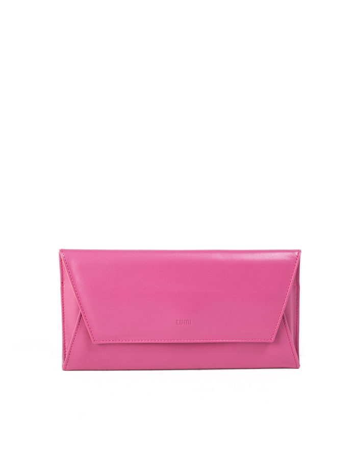 LUMI Talvikki Envelope Wallet, in pink/coral.