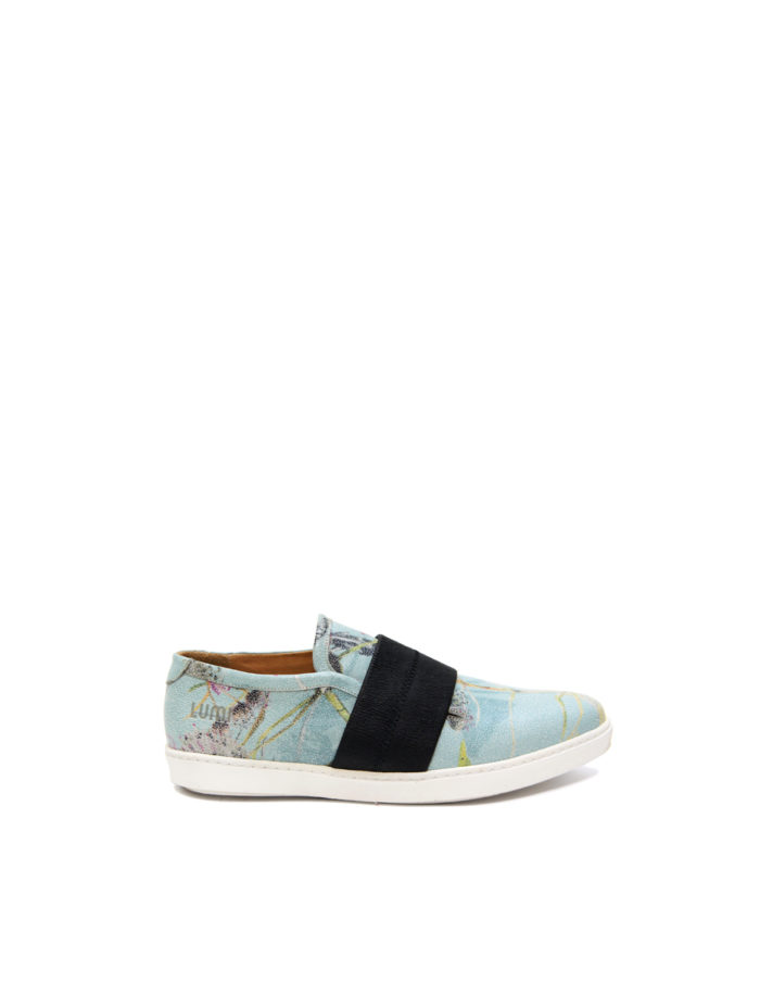 LUMI Teresa Riviera Slip On, in unique floral pattern printed on the leather.