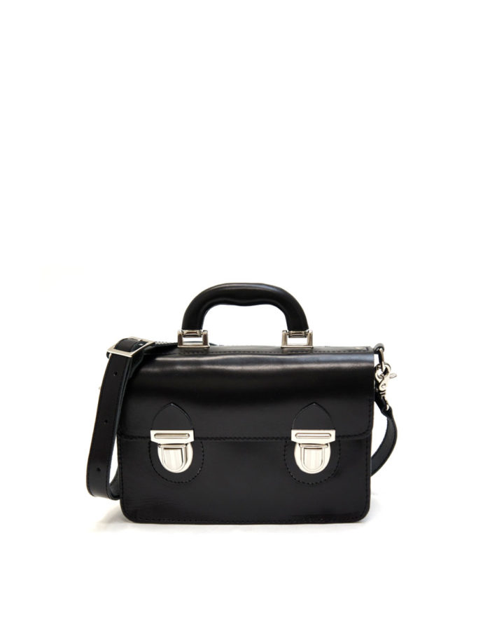 LUMI Miki Small Postman Bag, in black.