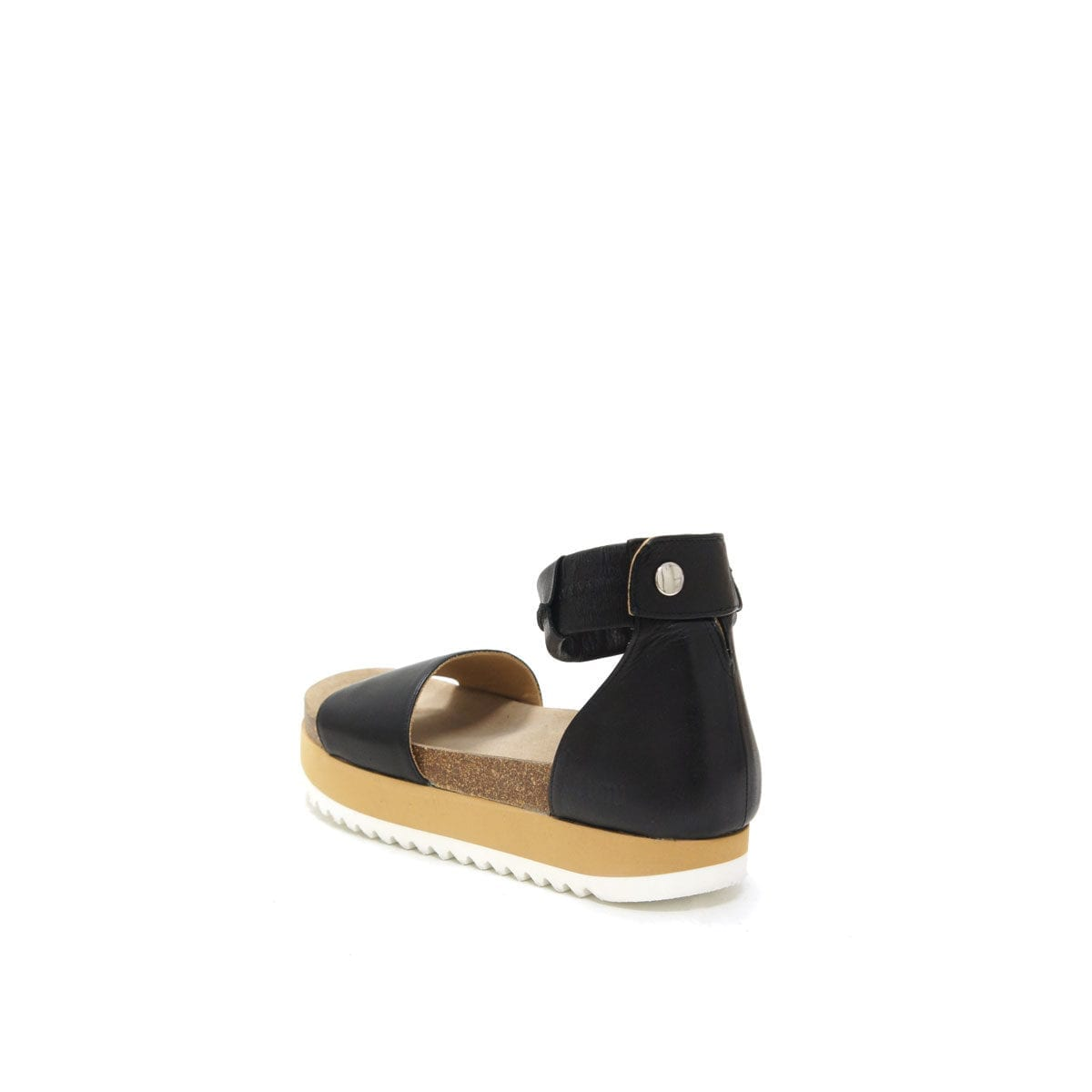LUMI Birgitta Cork Sandal, in black, make the perfect summer shoe for every occasion. Just slip on and go!