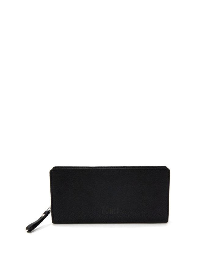 LUMI Supermarket Large Wallet, in black.