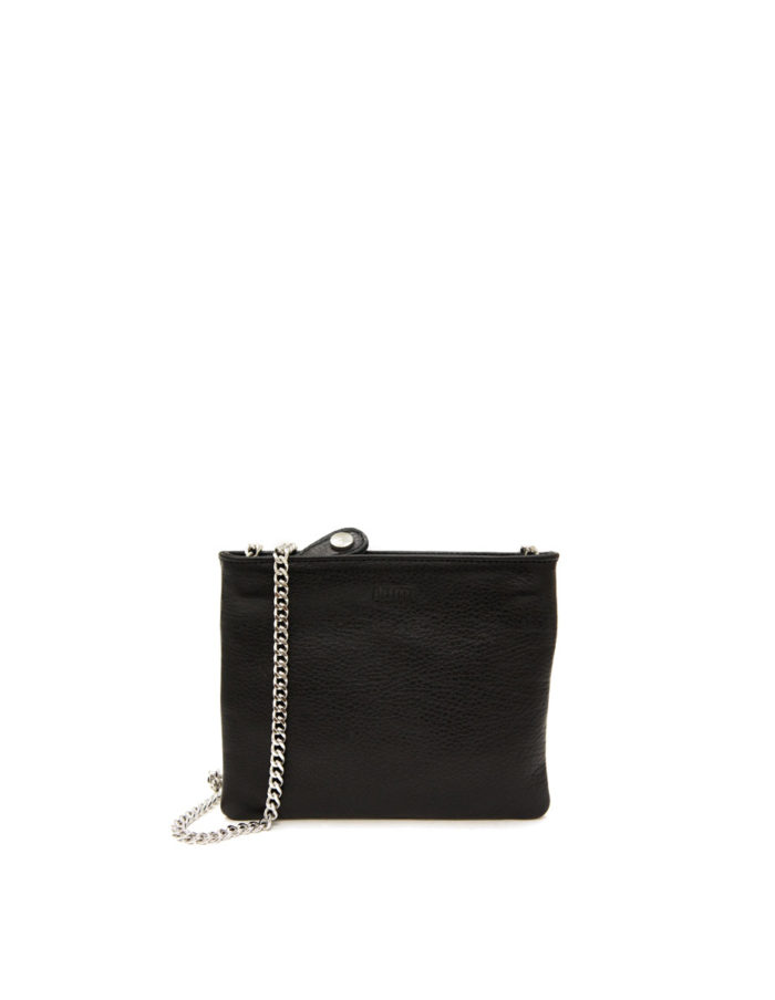 LUMI Laura Envelope Clutch, in black.