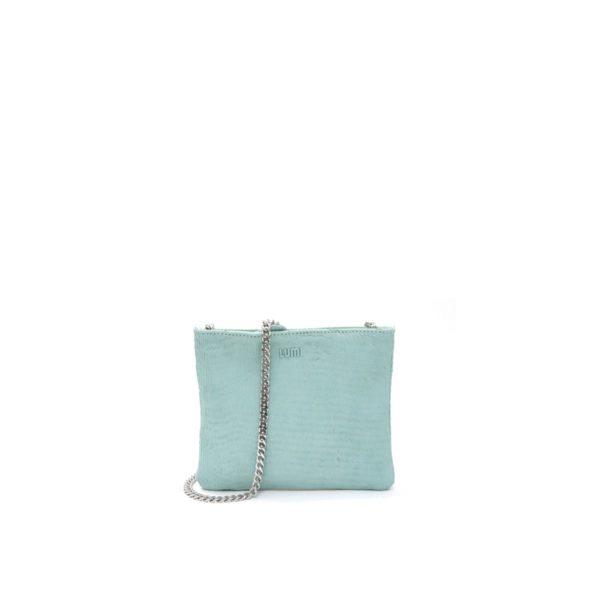 LUMI Laura Envelope Clutch, in blue.