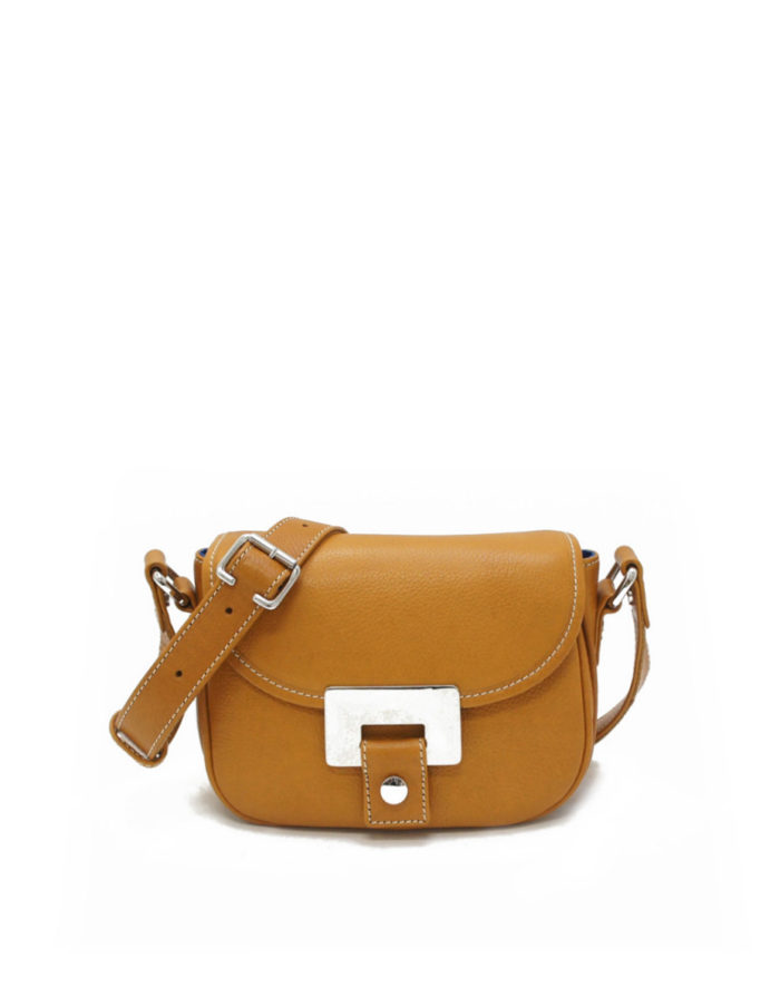 LUMI Olivia Mini Saddler, in cognac. Created using vegetable tanned cow leather.