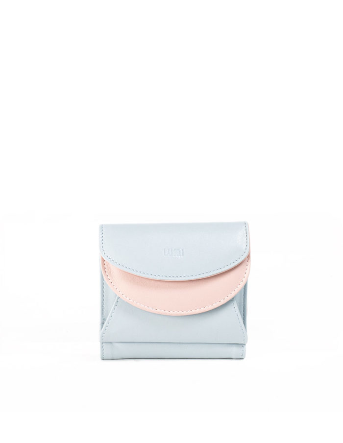 LUMI Viivi Trifold Wallet, in Baby Blue.