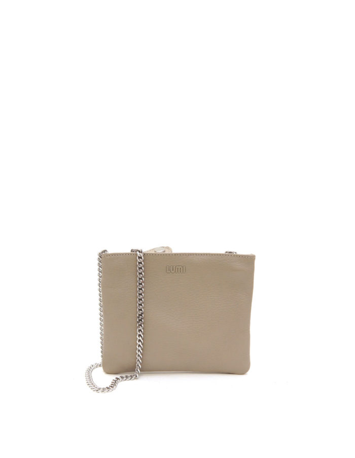 LUMI Laura Envelope Clutch, in taupe.