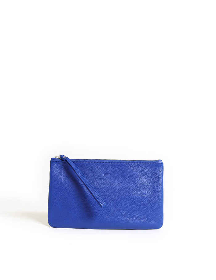 LUMI Raili Small Clutch, in blue/silver,