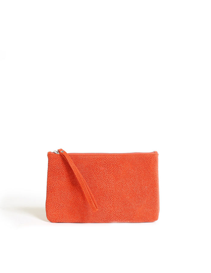 LUMI Raili Small Clutch Bubbles, in coral