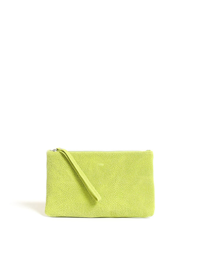 LUMI Raili Small Clutch Bubbles Lime
