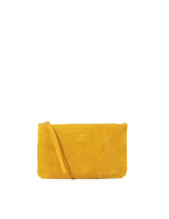 LUMI Raili Small Clutch Bubbles, in yellow, is from our Limited Edition.