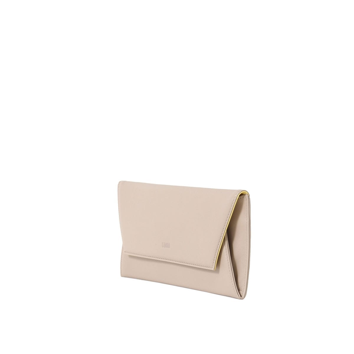 LUMI Talvikki Envelope Wallet in fresh taupe and sorbet combo. This wallet is perfect for daily use to safe-keep your cards and cash. Or use it as a clutch with your evening wear. The wallet is handmade from lovely and soft sheep napa leather, which makes it beautiful to hold in your hand.