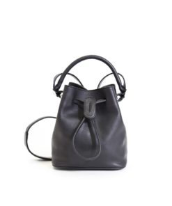 LUMI Klara Small Bucket Bag in timeless and elegant black.