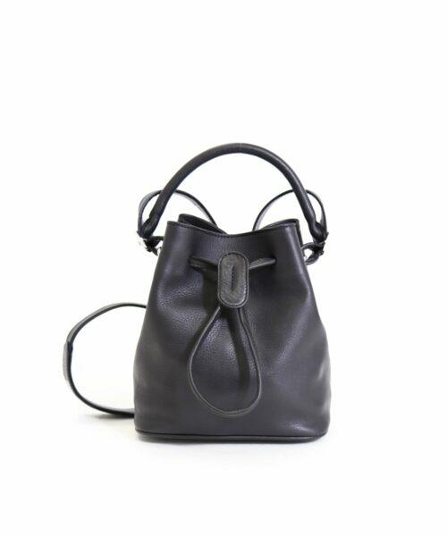 LUMI Klara Small Bucket Bag in timeless and elegant black.