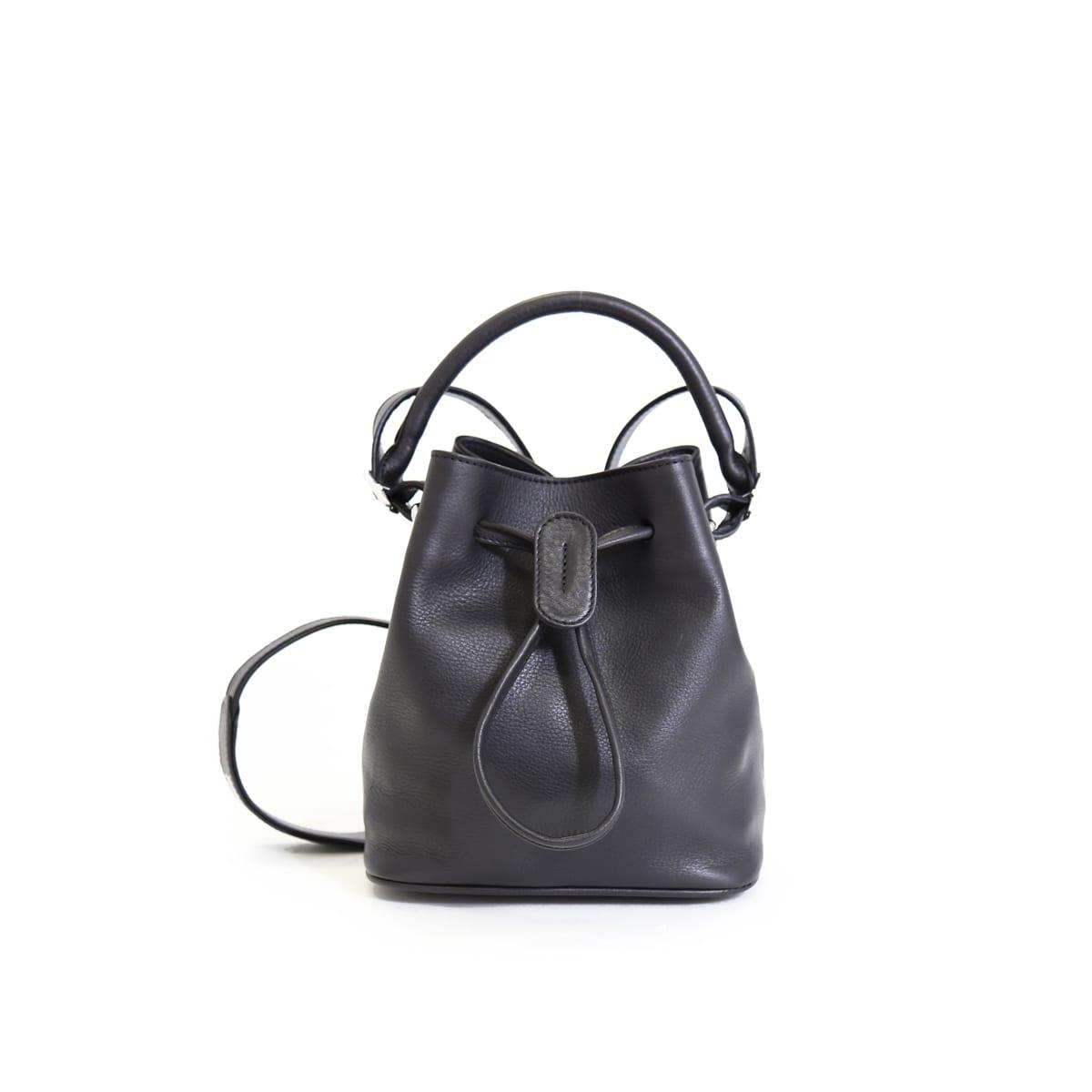 2e0b91936f LUMI Klara Small Bucket Bag in timeless and elegant black.