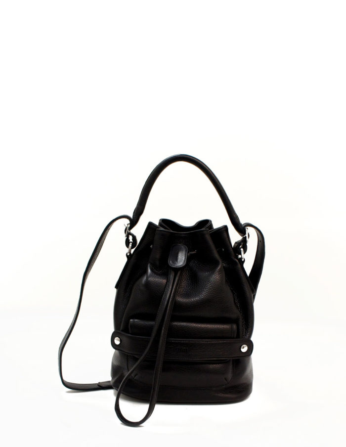 LUMI Katariina Large Bucket Bag, in black.