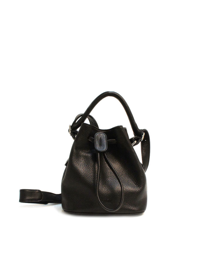LUMI Klara Small Bucket Bag, in black.