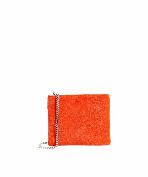 LUMI Laura Envelope Clutch, in coral combo.