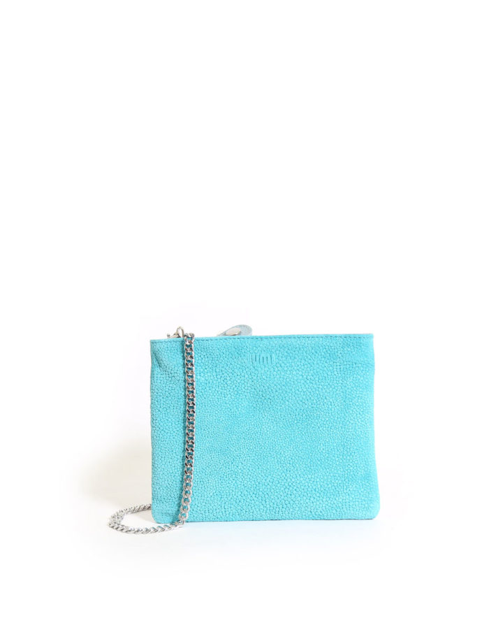 LUMI Laura Envelope Clutch, in turquoise combo.
