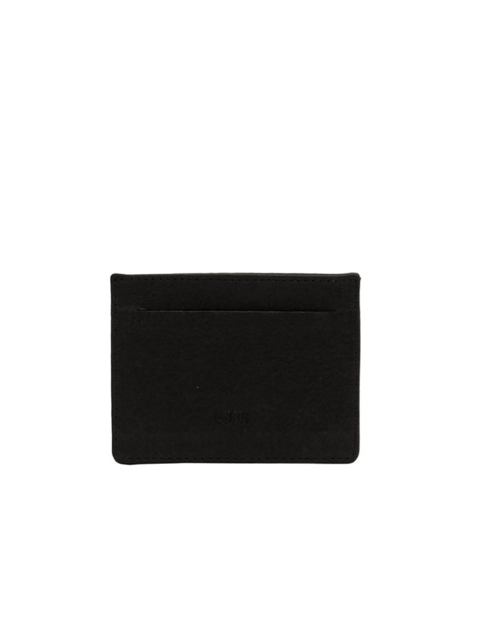 LUMI Matt Card Slot Wallet, in black.
