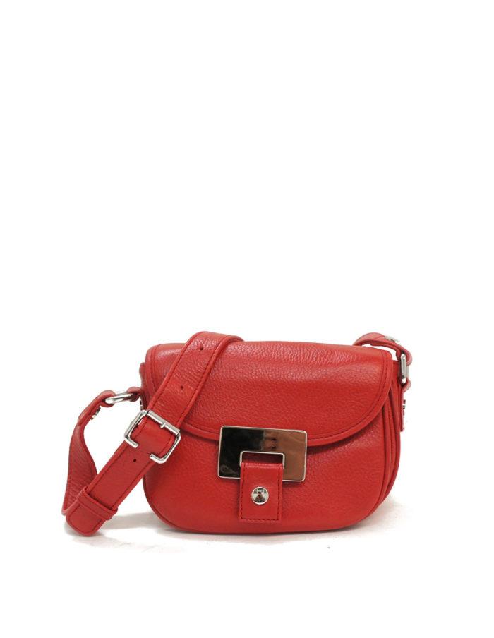 LUMI Olivia Mini Saddler, in red.