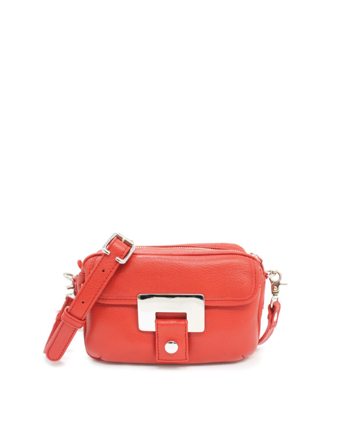 LUMI Othilia Mini Cross Body Bag, in red.