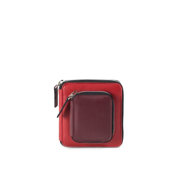 Melissa Wallet in red and Wine combo