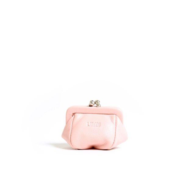 LUMI Aurora Jewellery Purse, in Baby Pink.